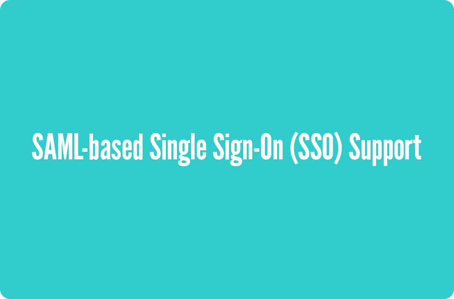 SAML-based-Single-Sign-On-Support