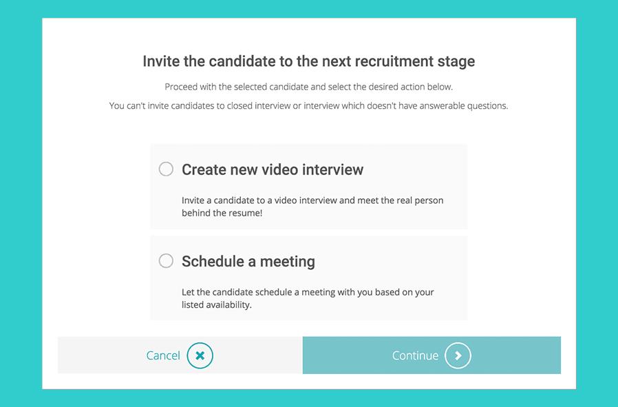 Self-scheduled-interviews